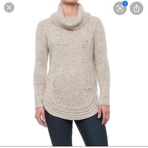 Cynthia Rowley donegal wool blend sweater